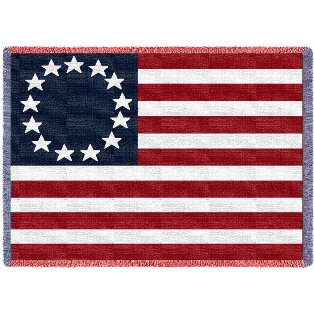 Betsy Ross American Flag Throw
