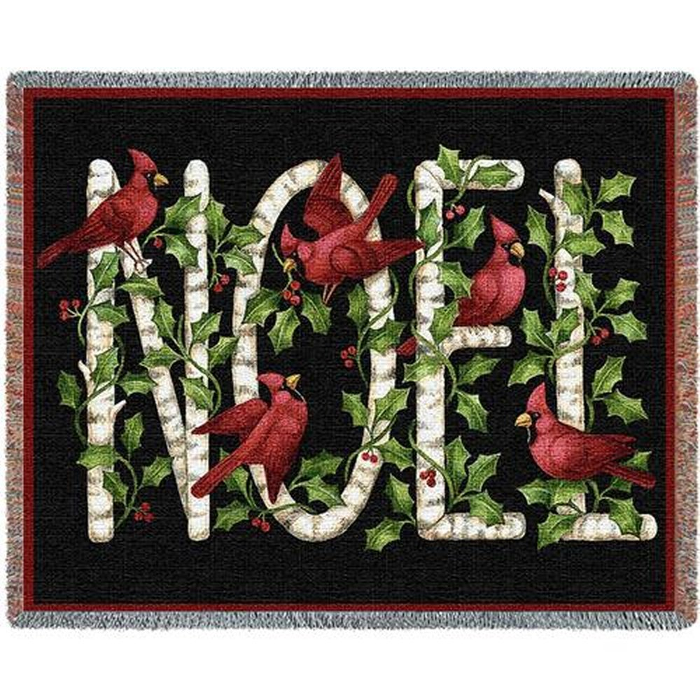 Cardinal Noel Tapestry Throw