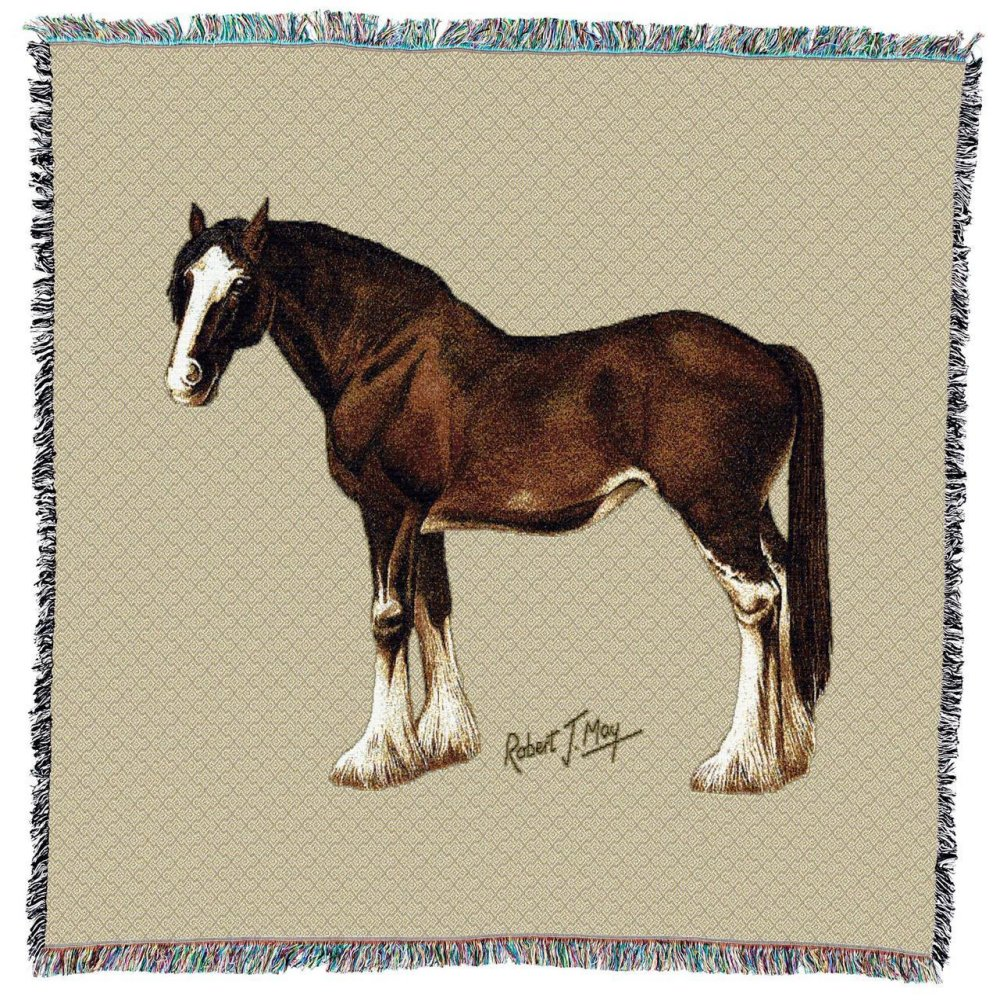 Clydesdale Horse Throw