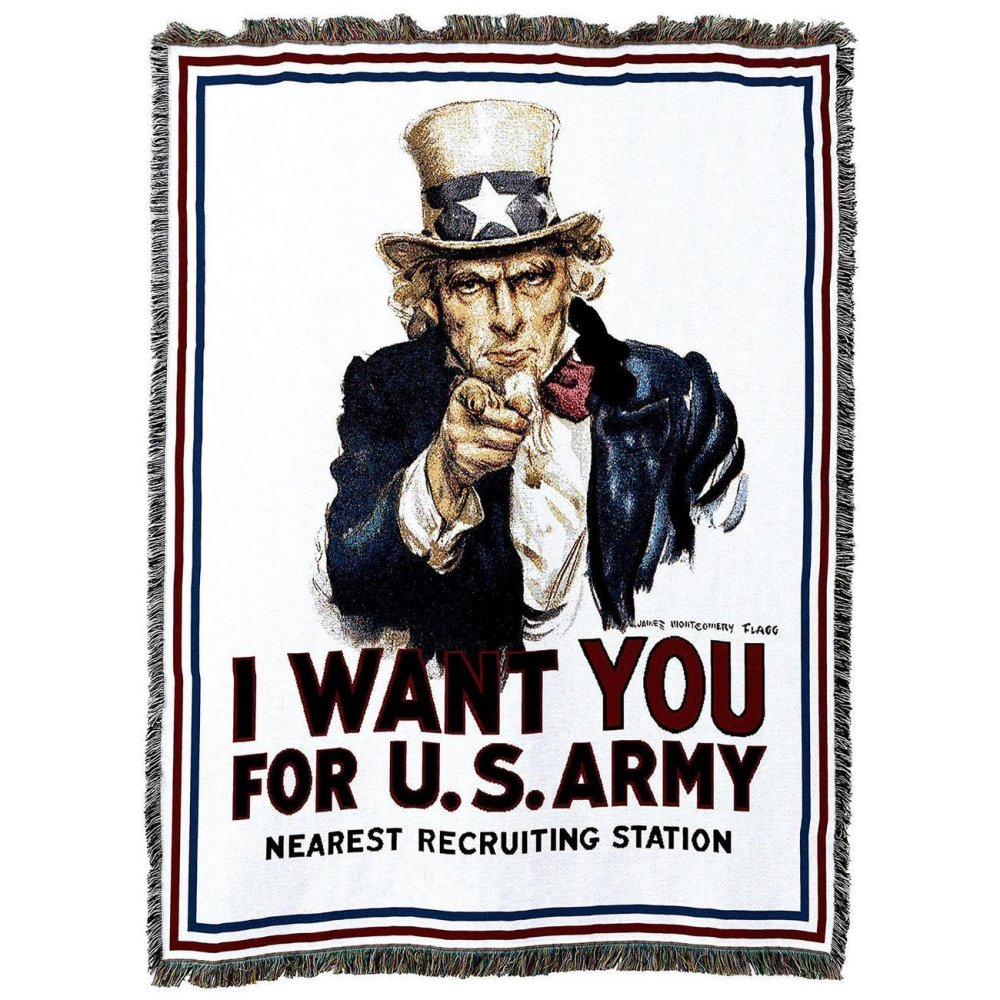 I Want You Army Throw