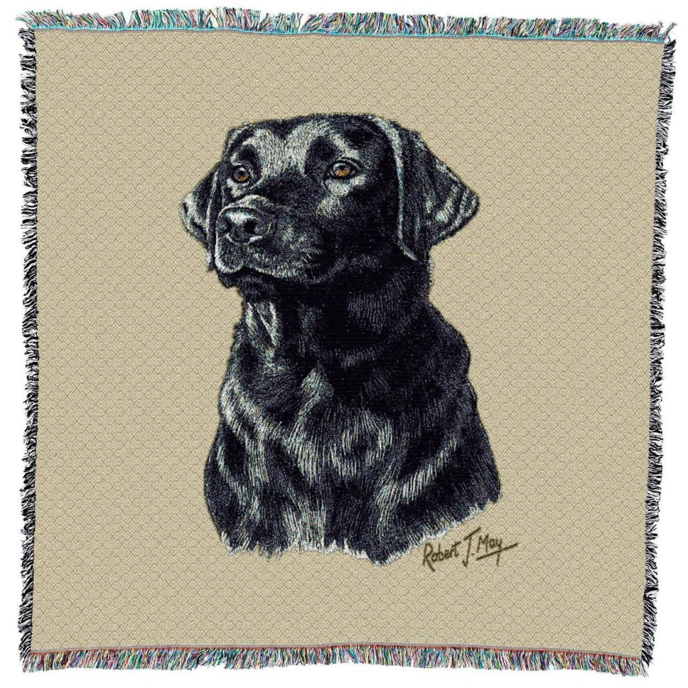Labrador Retriever (Black) Throw