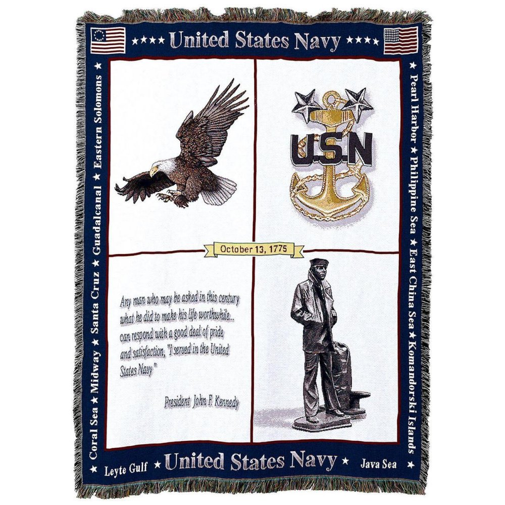 US Naval Memorial Throw