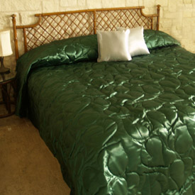 Luxurious Satin Quilted Bedspread Made In The Usa